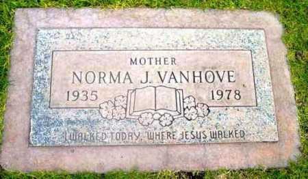 VANHOVE, NORMA J. - Yavapai County, Arizona   NORMA J. VANHOVE - Arizona Gravestone Photos