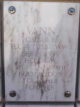 VANN, HELEN W. - Yavapai County, Arizona | HELEN W. VANN - Arizona Gravestone Photos