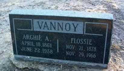 VANNOY, ARCHIE AANDERSON HENRY - Yavapai County, Arizona   ARCHIE AANDERSON HENRY VANNOY - Arizona Gravestone Photos