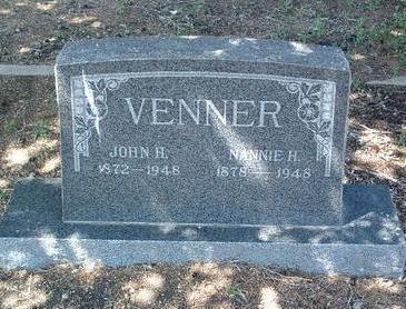 VENNER, NANNIE H. - Yavapai County, Arizona | NANNIE H. VENNER - Arizona Gravestone Photos