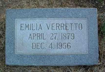 PONSETTO VERRETTO, EMILIA - Yavapai County, Arizona | EMILIA PONSETTO VERRETTO - Arizona Gravestone Photos