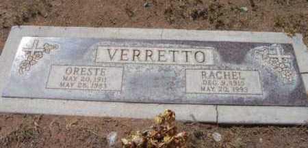 VERRETTO, ORESTE - Yavapai County, Arizona | ORESTE VERRETTO - Arizona Gravestone Photos