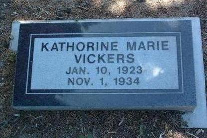 VICKERS, KATHERINE MARIE - Yavapai County, Arizona   KATHERINE MARIE VICKERS - Arizona Gravestone Photos