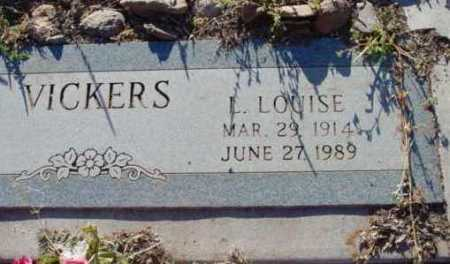 VICKERS, L. LOUISE - Yavapai County, Arizona | L. LOUISE VICKERS - Arizona Gravestone Photos