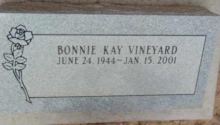 VINEYARD, BONNIE KAY - Yavapai County, Arizona | BONNIE KAY VINEYARD - Arizona Gravestone Photos