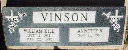 VINSON, ANNETTE B. - Yavapai County, Arizona | ANNETTE B. VINSON - Arizona Gravestone Photos