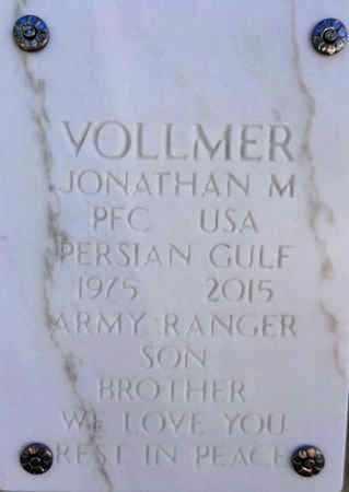 VOLLMER, JONATHAN M. - Yavapai County, Arizona | JONATHAN M. VOLLMER - Arizona Gravestone Photos