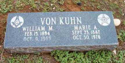 VON KUHN, WILLIAM M. - Yavapai County, Arizona | WILLIAM M. VON KUHN - Arizona Gravestone Photos