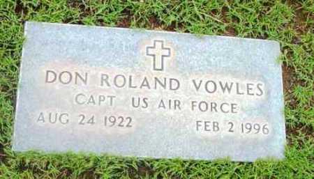 VOWLES, DON ROLAND - Yavapai County, Arizona | DON ROLAND VOWLES - Arizona Gravestone Photos