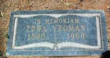 NESMITH VROMAN, IRMA EDNA - Yavapai County, Arizona | IRMA EDNA NESMITH VROMAN - Arizona Gravestone Photos