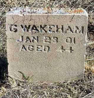 WAKEHAM, GEORGE - Yavapai County, Arizona | GEORGE WAKEHAM - Arizona Gravestone Photos