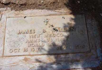 WALDEN, JAMES B. - Yavapai County, Arizona | JAMES B. WALDEN - Arizona Gravestone Photos