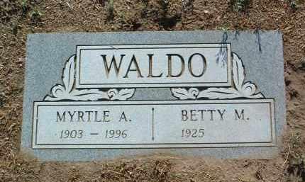 WALDO, MYRTLE AGNES - Yavapai County, Arizona | MYRTLE AGNES WALDO - Arizona Gravestone Photos