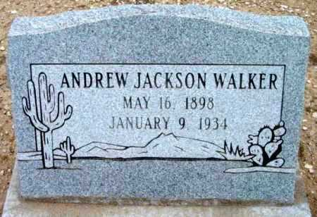WALKER, ANDREW JACKSON - Yavapai County, Arizona   ANDREW JACKSON WALKER - Arizona Gravestone Photos