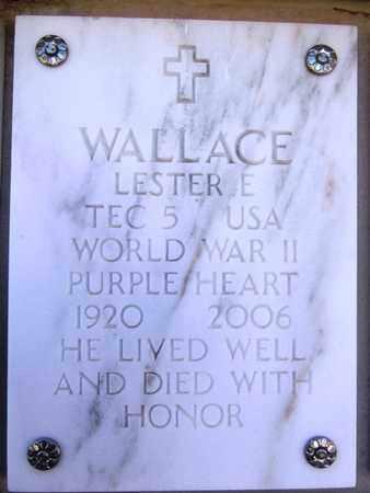 WALLACE, LESTER E. - Yavapai County, Arizona | LESTER E. WALLACE - Arizona Gravestone Photos