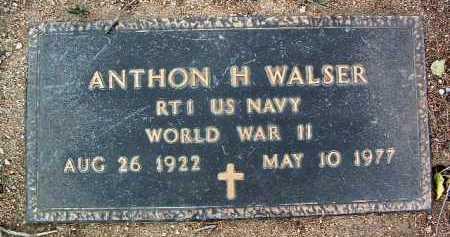 WALSER, ANTHON HAROLD - Yavapai County, Arizona   ANTHON HAROLD WALSER - Arizona Gravestone Photos