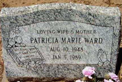 WARD, PATRICIA MARIE - Yavapai County, Arizona | PATRICIA MARIE WARD - Arizona Gravestone Photos
