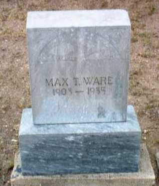WARE, MAX T. - Yavapai County, Arizona | MAX T. WARE - Arizona Gravestone Photos