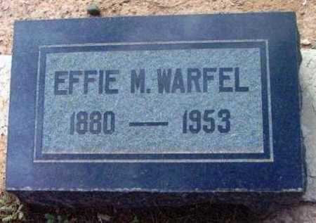 WARFEL, EFFIE MAUD - Yavapai County, Arizona | EFFIE MAUD WARFEL - Arizona Gravestone Photos