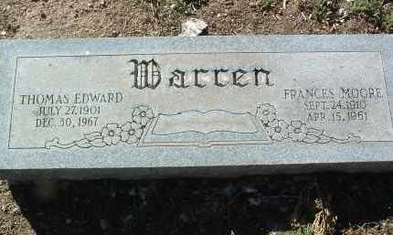 WARREN, FRANCES LAURA - Yavapai County, Arizona | FRANCES LAURA WARREN - Arizona Gravestone Photos
