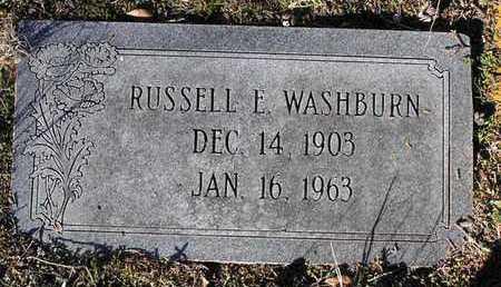 WASHBURN, RUSSELL E. - Yavapai County, Arizona | RUSSELL E. WASHBURN - Arizona Gravestone Photos