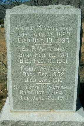 WATERMAN, FRANCES JANE - Yavapai County, Arizona   FRANCES JANE WATERMAN - Arizona Gravestone Photos