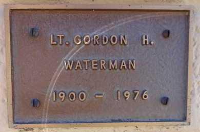 WATERMAN, GORDON H. (LT.) - Yavapai County, Arizona   GORDON H. (LT.) WATERMAN - Arizona Gravestone Photos