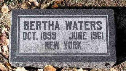 KONSRIDDLE WATERS, BERTHA - Yavapai County, Arizona | BERTHA KONSRIDDLE WATERS - Arizona Gravestone Photos