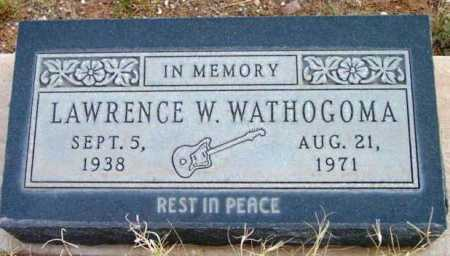 WATHOGOMA, LAWRENCE W. - Yavapai County, Arizona | LAWRENCE W. WATHOGOMA - Arizona Gravestone Photos