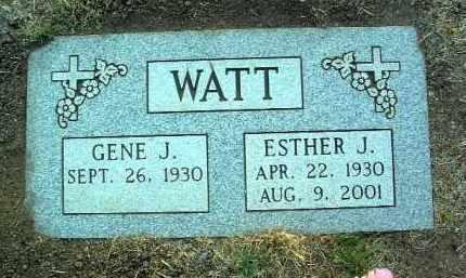 WATT, ESTHER JANE - Yavapai County, Arizona | ESTHER JANE WATT - Arizona Gravestone Photos