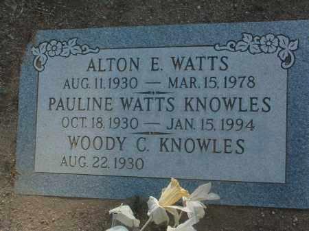WATTS, ALTON EDGAR - Yavapai County, Arizona | ALTON EDGAR WATTS - Arizona Gravestone Photos