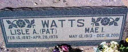 WATTS, MAE I. - Yavapai County, Arizona | MAE I. WATTS - Arizona Gravestone Photos