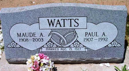 WATTS, PAUL AUSTIN - Yavapai County, Arizona | PAUL AUSTIN WATTS - Arizona Gravestone Photos