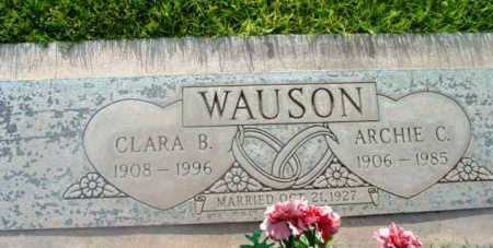 WAUSON, CLARA B. - Yavapai County, Arizona | CLARA B. WAUSON - Arizona Gravestone Photos