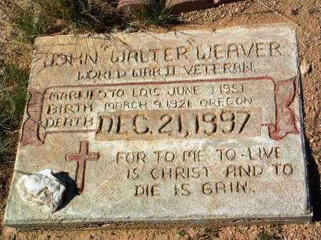 WEAVER, JOHN WALTER - Yavapai County, Arizona | JOHN WALTER WEAVER - Arizona Gravestone Photos