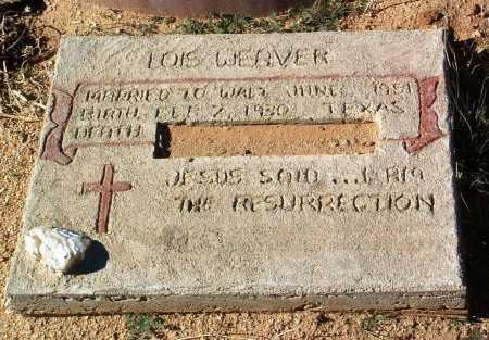 WEAVER, LOIS - Yavapai County, Arizona   LOIS WEAVER - Arizona Gravestone Photos