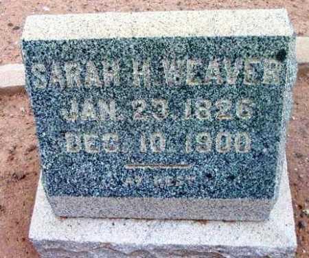 WEAVER, SARAH H. - Yavapai County, Arizona   SARAH H. WEAVER - Arizona Gravestone Photos