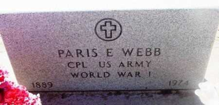 WEBB, PARIS E. - Yavapai County, Arizona | PARIS E. WEBB - Arizona Gravestone Photos