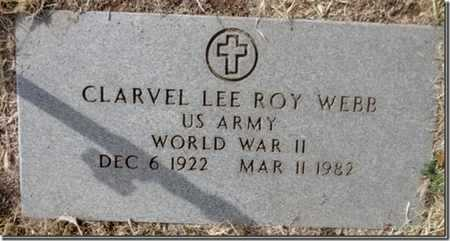 WEBB, CLARVEL LEE ROY - Yavapai County, Arizona | CLARVEL LEE ROY WEBB - Arizona Gravestone Photos