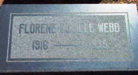 WEBB, FLORENE LUCILLE - Yavapai County, Arizona | FLORENE LUCILLE WEBB - Arizona Gravestone Photos