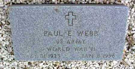 WEBB, PAUL E. - Yavapai County, Arizona   PAUL E. WEBB - Arizona Gravestone Photos
