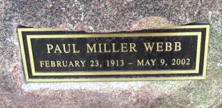 WEBB, PAUL MILLER - Yavapai County, Arizona | PAUL MILLER WEBB - Arizona Gravestone Photos