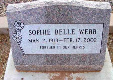 WEBB, SOPHIE BELLE - Yavapai County, Arizona | SOPHIE BELLE WEBB - Arizona Gravestone Photos