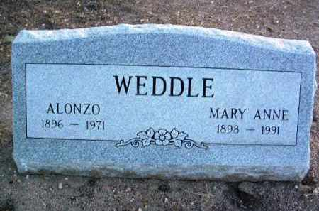 WEDDLE, MARY ANNE - Yavapai County, Arizona   MARY ANNE WEDDLE - Arizona Gravestone Photos