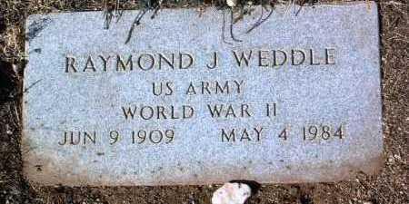 WEDDLE, RAYMOND J. - Yavapai County, Arizona | RAYMOND J. WEDDLE - Arizona Gravestone Photos