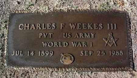 WEEKES, CHARLES FREDERICK - Yavapai County, Arizona | CHARLES FREDERICK WEEKES - Arizona Gravestone Photos