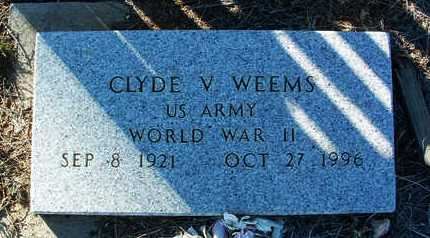 WEEMS, CLYDE V. - Yavapai County, Arizona | CLYDE V. WEEMS - Arizona Gravestone Photos