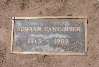 WEIDNER, HOWARD H. - Yavapai County, Arizona | HOWARD H. WEIDNER - Arizona Gravestone Photos