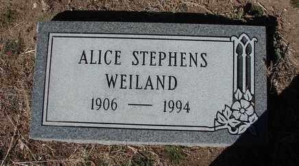 WEILAND, ALICE DRUCILLA - Yavapai County, Arizona | ALICE DRUCILLA WEILAND - Arizona Gravestone Photos