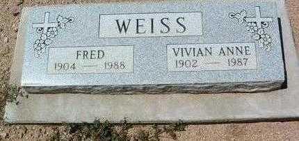 JOHNSON WEISS, VIVIAN A. - Yavapai County, Arizona   VIVIAN A. JOHNSON WEISS - Arizona Gravestone Photos
